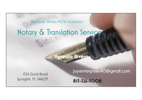 Notary & Translation Services